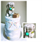 "2-Tier Simple ""Nursing Necklace"" Nappy Cake Design"
